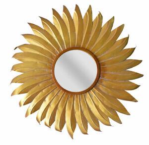 Baroque Wall Mirror Gold Star Flammenspiegel Kaminspiegel Antique