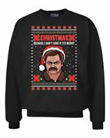 Ron Swanson Christmas Because I Don't Care If It's Merry | Funny Parks and Rec U