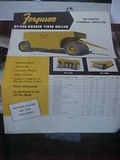 Ferguson rt-900 rubber Tired Roller 1 Page Brochure w/Specs  (Folder BB)