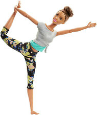 Barbie Made to Move Doll - Original with Brunette Updo Flexible Range of Motion