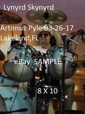 Lynyrd Skynyrd 2017 Artimus Pyle 8 X 10 Color Concert Photo 1 Lakeland,FL