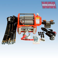 Hydraulik Winde 9072kg Winchmax Original Orange Winde mit Stahl Seil