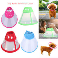 S-XL Dog Cat Wound Recovery Cover Pet Anti-Bite Lick Medical Circle Cone Collar