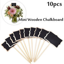 10pcs Mini Chalkboards Message Blackboard Plant Tag Board Signs for Home Garden~