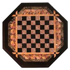 18'' Marble kids children game Chess table Top Inlay Stone j2