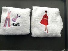 Barbie hand towels x2