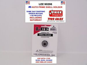 LEE 90206 * LEE AUTO PRIME HAND PRIMING TOOL SHELL HOLDER * #6 * 90206