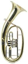 CLASSIC CANTABILE TENOR HORN Bb GOLD BRASS LEADPIPE INCL. MOUTHPIECE & CASE