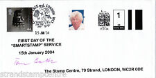 2004 SmartStamp Service - Genuine First Day Cover - Signed TOM BAKER - SEE NOTES