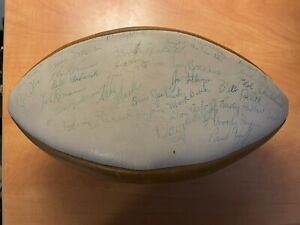 Woody Hayes +51 of the1968 team Ohio State Buckeyes signed autographed football