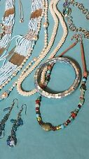 LOT OF 22 BEAUTIFUL INDIE BOHEMIAN BLUE & AMBER HUES FEMININE FESTIVAL JEWELRY