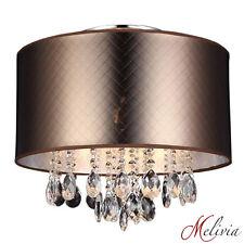 Lámpara de Techo Marrón Oro Bronce Patrón cristal E14 Colgante