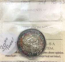 Canada 1967 Centennial 25 Cents  ICCS  Toner near GEM Unreal Colours