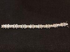 "Cz Bracelet 8.5"" Sterling Silver and"