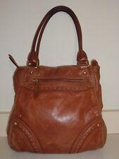 COLE HAAN Destressed Brown Leather  Shoulder Bag