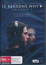 13 Reasons Why:Season Series One 1 DVD NEW Region 4