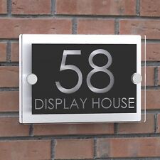 Displaypro Clear Acrylic House Sign Door Number Plaque Name Road Plate Signs