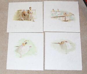 Douglas Hofmann Ballet Suite X 4 Class, At the Barre 1 & 2 Tarlatans Signed 300