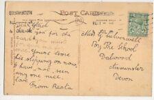 Miss Glad Culverwell By The School Dalwood Axminster 1916 561b