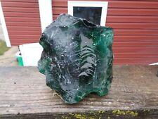 Glass Rock Slag Clear Teal Green 3.2 lb Bb6 Landscaping Aquarium