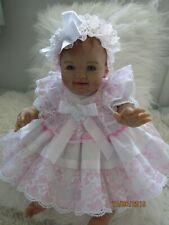 """Vêtements pour bébé hananh 0-3 mois/Reborn 16"""" trois pièces robe blanche Set"""