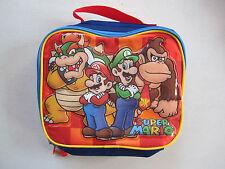 Nintendo SUPER MARIO BROS. Insulated Vinyl Zippered Lunch Tote Bag Luigi Bowser