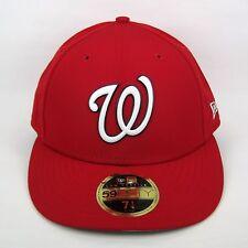 New Era Men's MLB Washington Nationals Batteur Practice 5950 Fitted Cap - 7 1/4