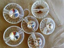 MAXI bottone gioiello STRASS SWAROVSKY RESINA  ANNI '70 vintage BUTTON BOUTON