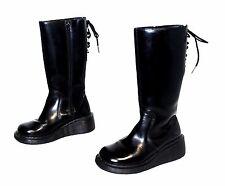 DOC DR MARTENS 3A34 Boots, PATENT BLACK KNEE Goth Rare SZ UK 3 US 5.5 ENGLAND
