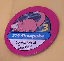 #79 SLOWPOKE PINK CHIP Pokemon master trainer Part Piece Board Game Original