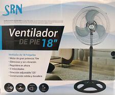 """Ventilador de pie 18"""" pulgadas metalico 3 aspa de acero Giratorio ,3 velocidades"""