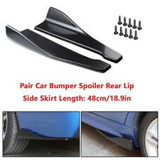 2X Car Bumper Spoiler Rear Lip /Side Skirt Extension Splitters Winglet Wing ABS