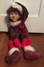 "Jimmine Emporium 26"" Christmas Elf Plush Doll W/ Flocked Face"