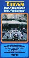 Titan Prospekt 1981 1982 Zubehör Modellbau Modelleisenbahn brochure model rail