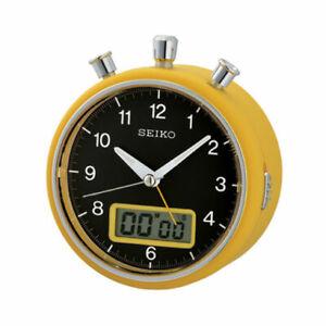 Seiko desk alarm clock QHE114Y sweep beep light snooze