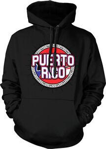 Puerto Rico Flag Map Outline Borinquen Puerto Rican Pride Hoodie Pullover