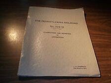 JULY 1960 PENNSYLVANIA RAILROAD PRR 109-M LOCOMOTIVE DATA BOOK