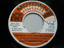 """Gladys Knight Pips - Take Me in Your Arms 7"""" Vinyl Single 45 rpm EX USA Motown"""