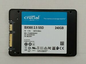 """240GB Crucial BX500 SSD 2.5"""" SATA Solid State Drive"""
