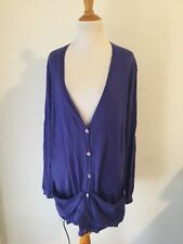 ERIC BOMPARD Cashmere Cardigan Sweater purple xl loose fit v neck