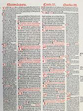 Decorative Post Incunable Leaf Law Gratian Decretum  Large Folio (196) - 1510