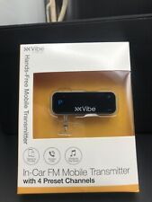 Vibe In-car Fm Mobile Transmitter With 4 Preset Channels