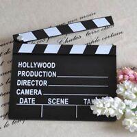 Director Scene Clapper Prop Clapperboard Film Cut Movie Board