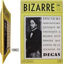 Bizarre n°26 Discours imprononçable jeunesse Edgar Degas 1962 Jean-Marie Lhôte
