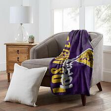 More details for los angeles lakers la hard knocks series nba basketball fleece throw blanket