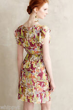 ANTHROPOLOGIE PETAL IMPRESSIONS DRESS LARGE L JAMES COVIELLO MULTI-COLOR NWT