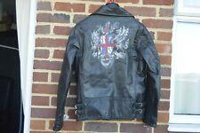 John Galliano Shield Crest Leather Biker Jacket |  Size 46 (14) Slim RRP $3000+