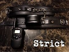 Leather hand cuffs SHOCK restraints gimp mistress 5* HIGH QUALITY SET 2017