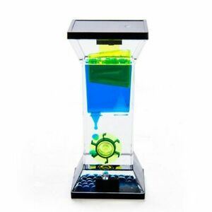 Entertaining Toy Neon Step and Spinning Wheel Liquid Timer Zig Zag Pattern