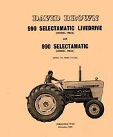 990 A B  David Brown Case Tractor Parts Catalog Manual